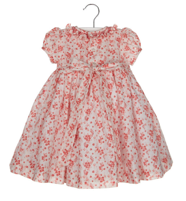 Smock Dress & Ruffle Neck- Pink