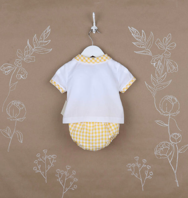 Sunny Gingham Boy Set- Yellow - Mumzie's Children