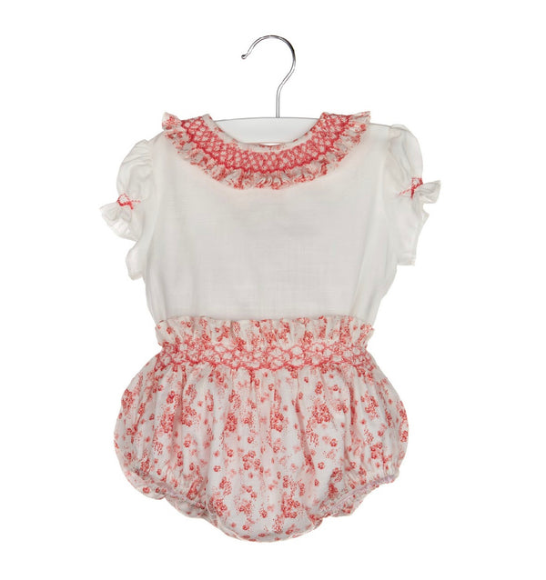 Smock Set with Bloomers- Pink