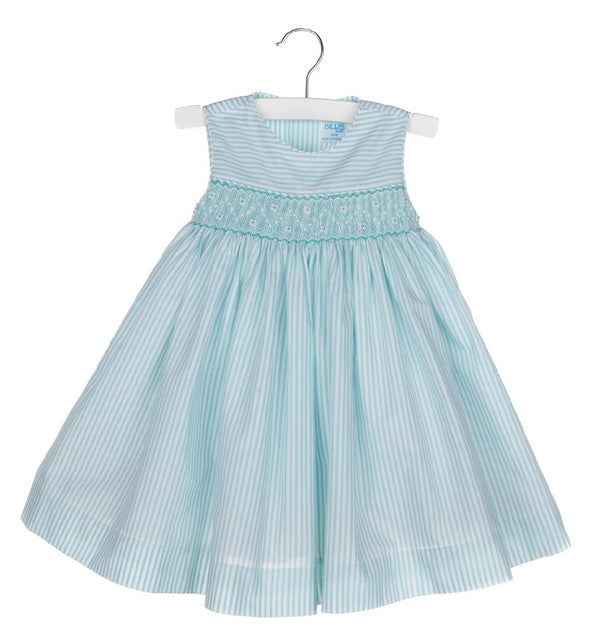 Aqua Stripe Smock Dress - Mumzie's Children