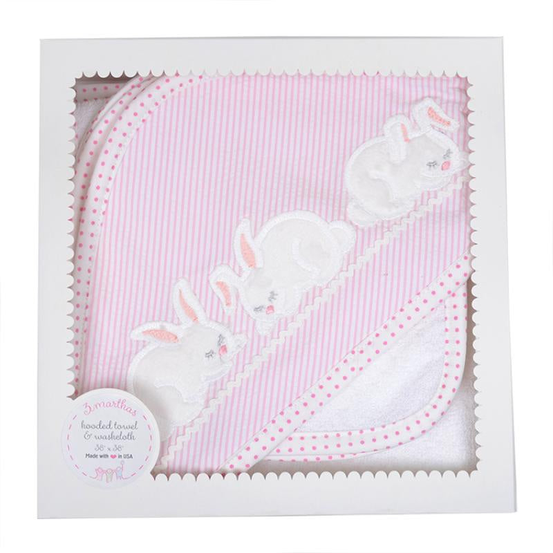Hooded Towel- Pink Bunny - Mumzie's Children