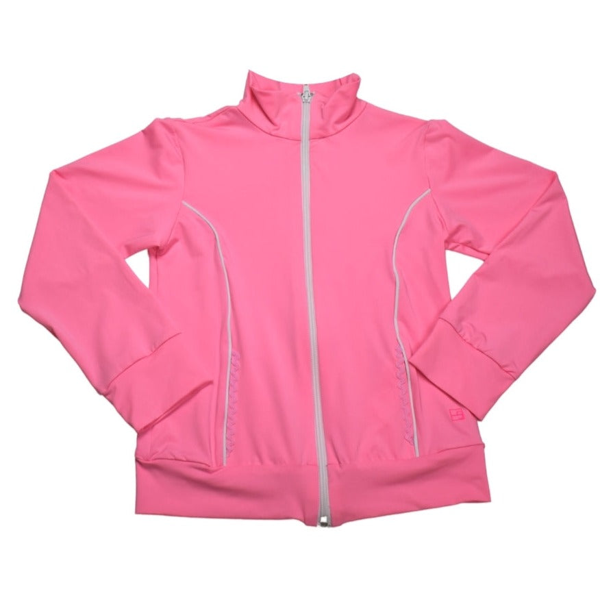 Juliet Dry Fit Jacket- Light Pink & White