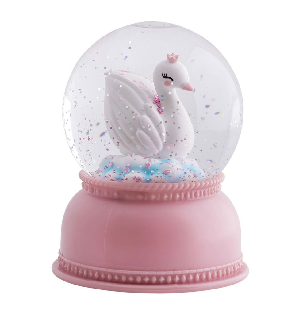 Swan Snow Globe Light