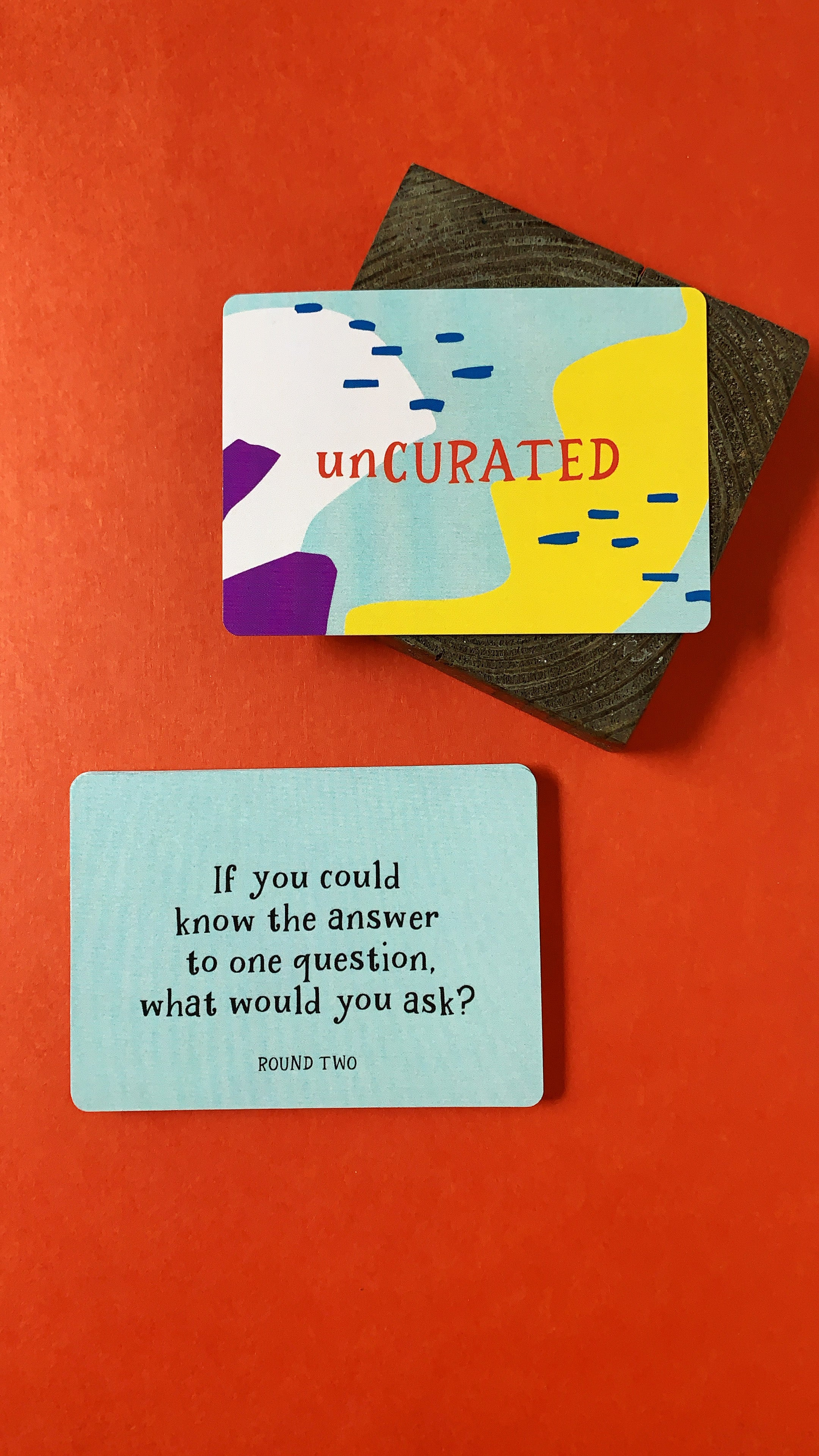 unCURATED - the card game that sparks meaningful conversations, connection, and emotional well-being