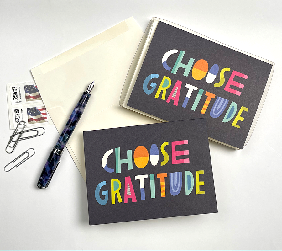 "Load image into Gallery viewer, ""CHOOSE GRATITUDE"" Notecard/Envelope Set"