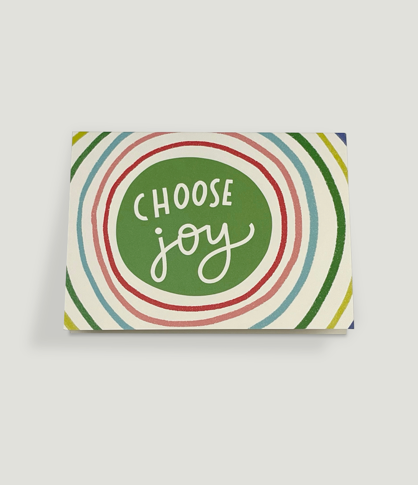"""CHOOSE JOY"" Notecard/Envelope Set"