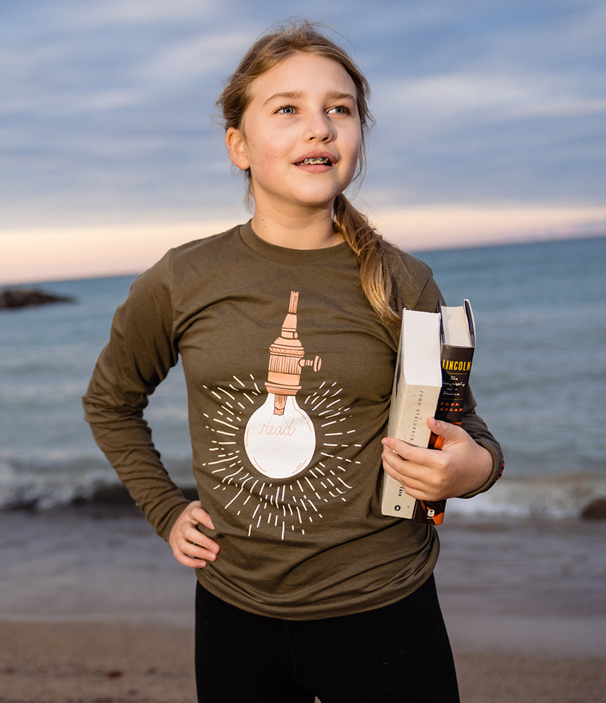 Load image into Gallery viewer, Read Lightbulb long sleeve t-shirt