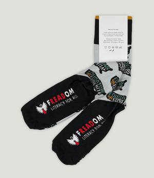 "Load image into Gallery viewer, ""Educators Are Essential"" Freadom Socks"