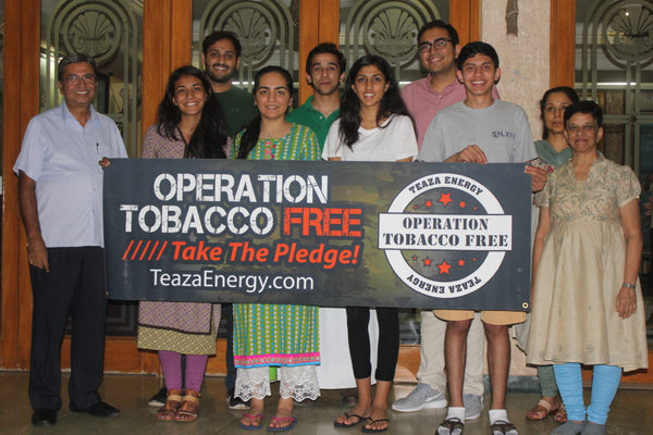 TeaZa's Operation Tobacco Free Initiative Sponsors Tobacco De-Addiction Pilot Study Conducted by USC Project RISHI