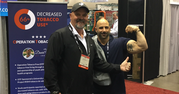 "David ""Boomer"" Wells promotes Operation Tobacco Free at the 2018 American Baseball Coaches Association Convention (ABCA)"
