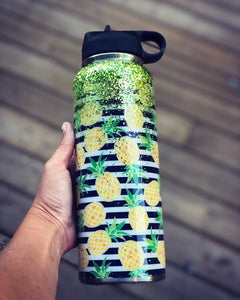 40 oz Striped Pineapple Hydrosport Bottle