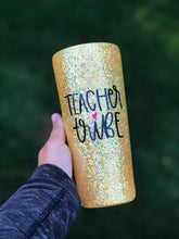 Load image into Gallery viewer, 22 oz Teacher Tribe Glitter Tumbler