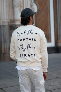 Sudadera Pirate crema