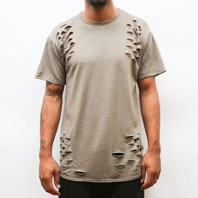 Distressed Sea Tee - Taupe