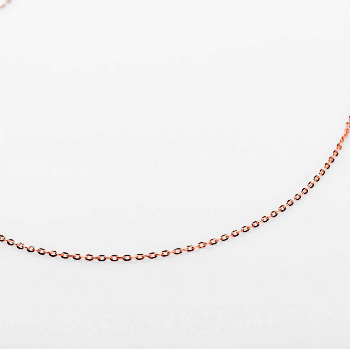 KEENA STAPLE NECKLACE CHAIN | ROSE GOLD