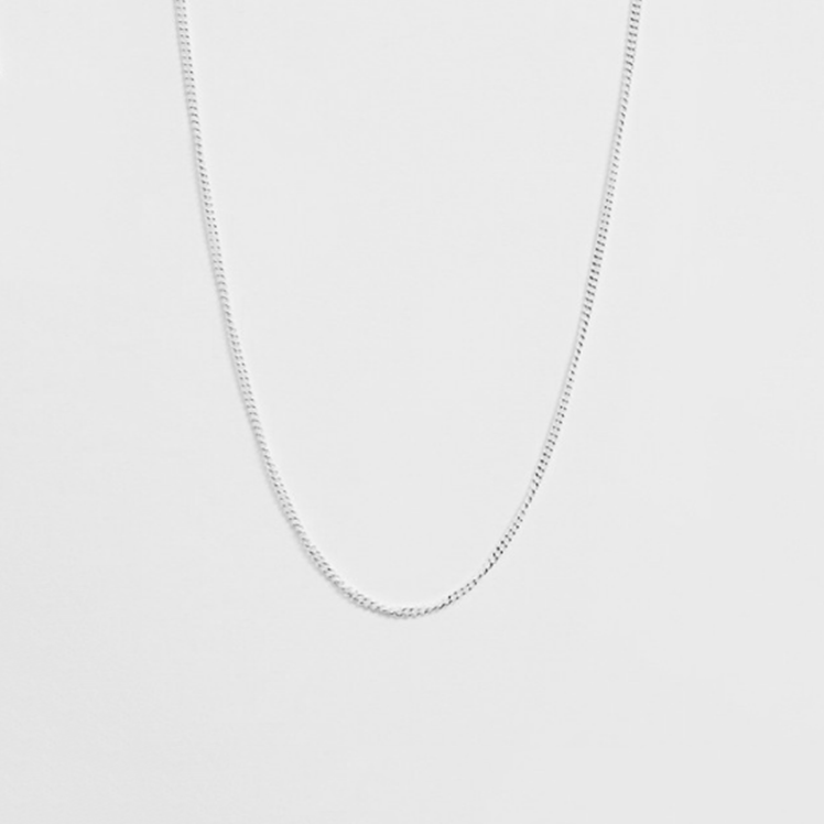 2mm CURB STERLING SILVER NECKLACE CHAIN