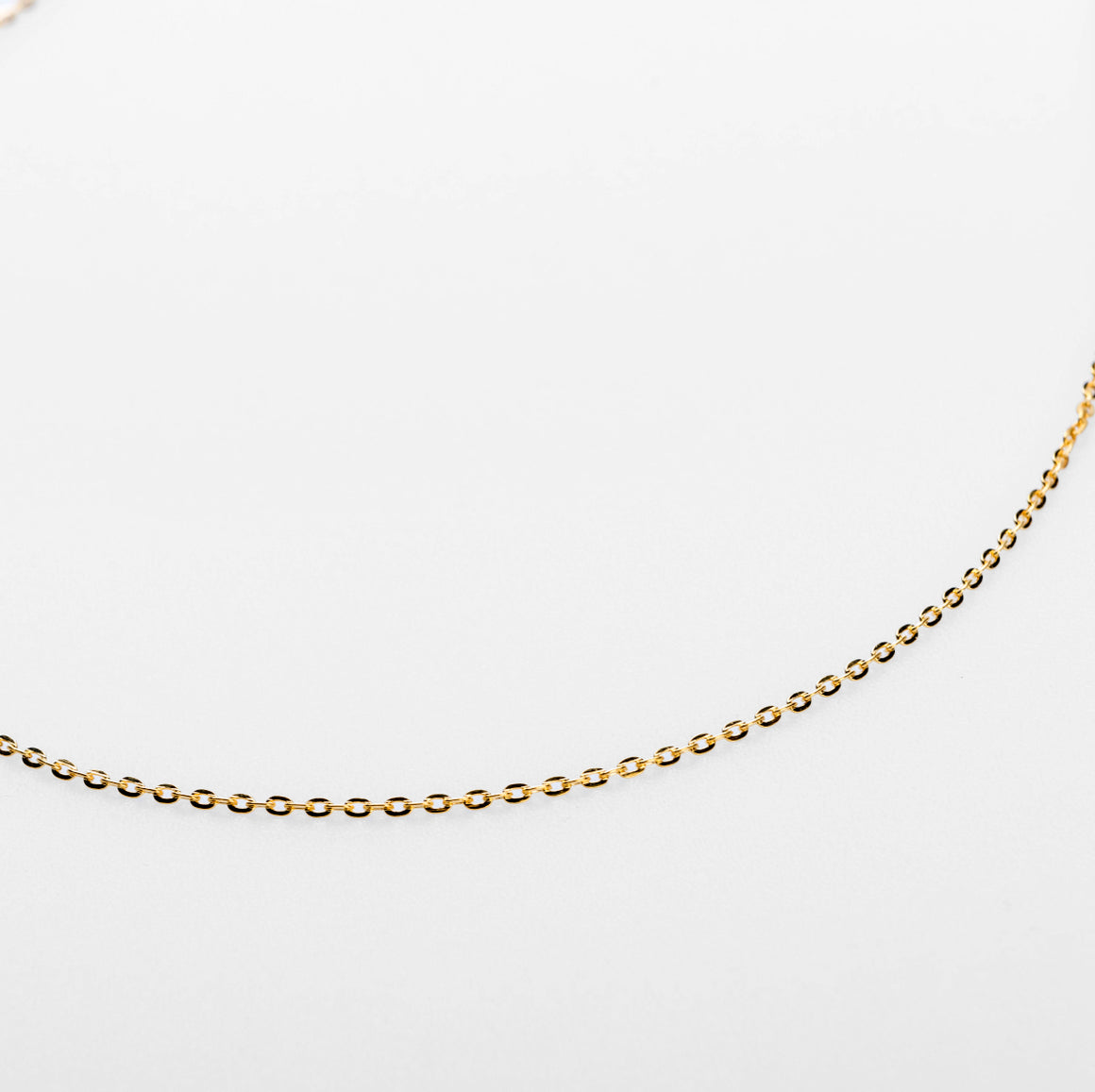 2mm CURB NECKLACE CHAIN - GOLD