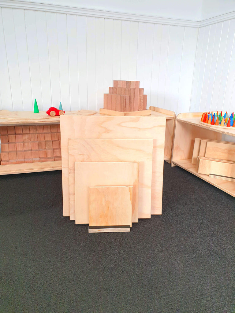 The Wooden Toy Co - Square Building Platforms