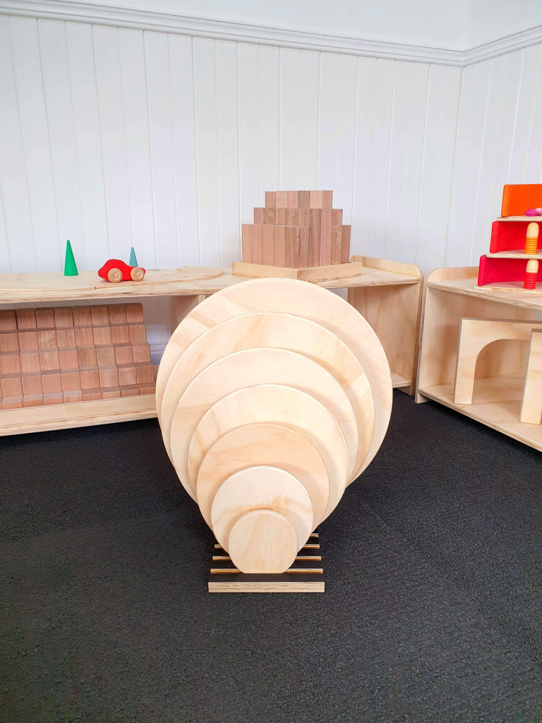 The Wooden Toy Co - Circle Building Platforms