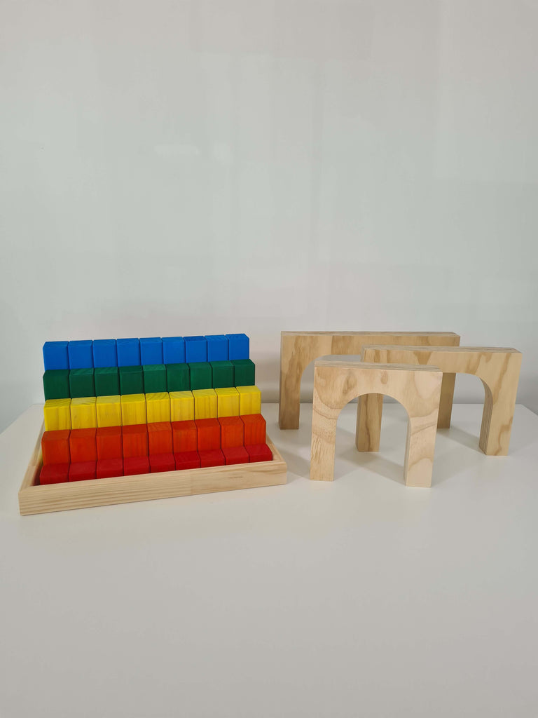 Coloured Blocks and Arches