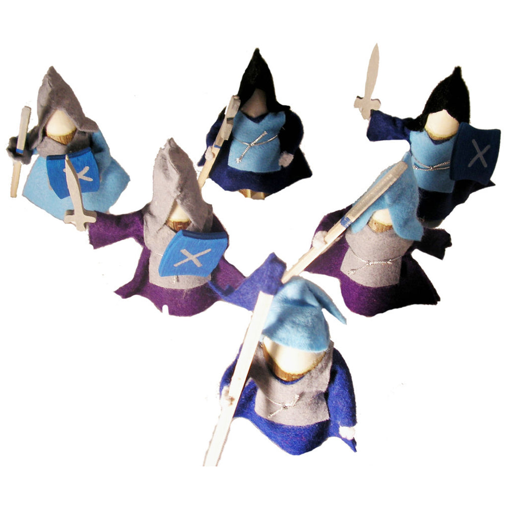 6 Knight Set - Blue