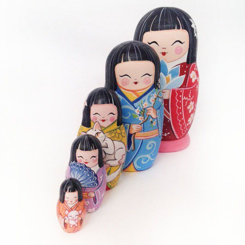 Japanese - 5 Set Russian Dolls