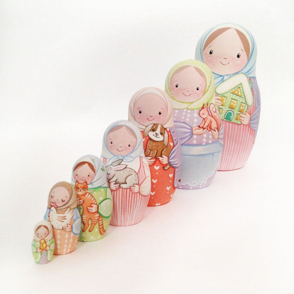 Green House - 7 Set Russian Dolls