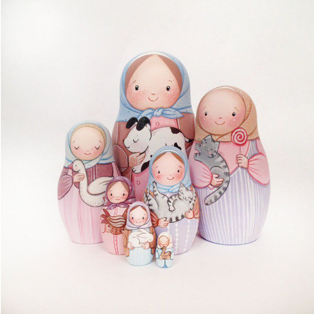 Blue - 7 Set Russian Dolls