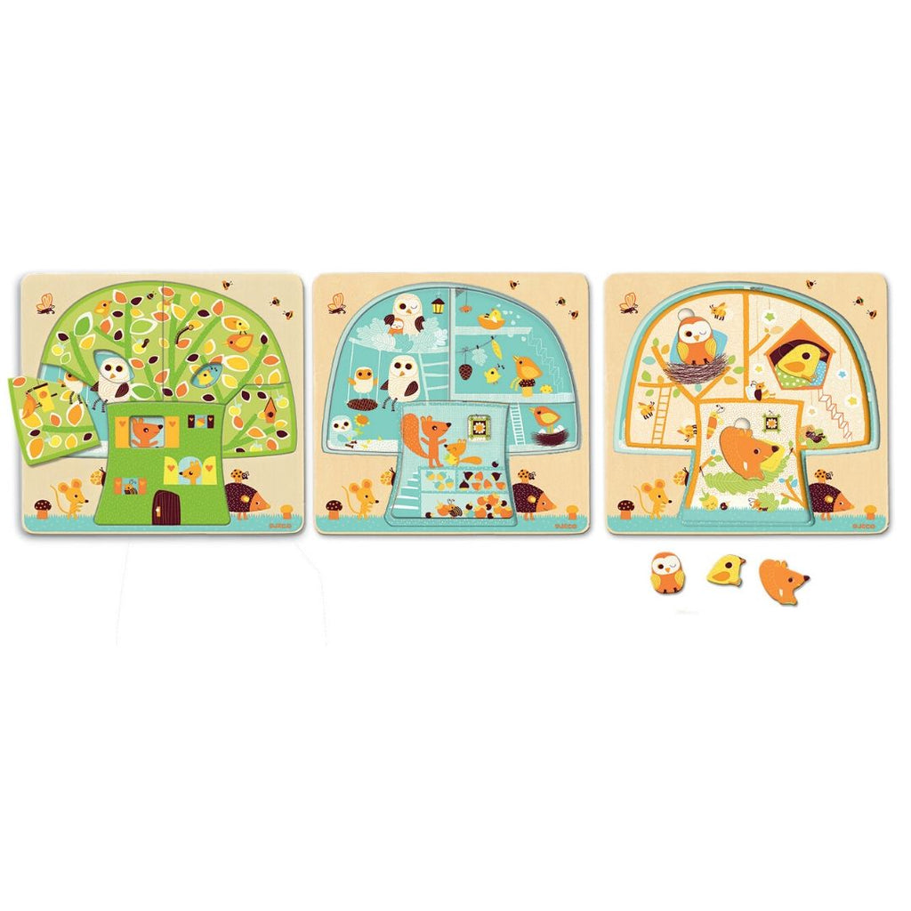 Tree House 3 Layer Wooden Puzzle