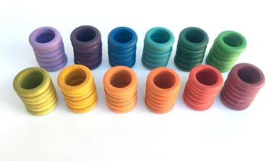 Grapat Coloured Rings (72) in 12 Colours