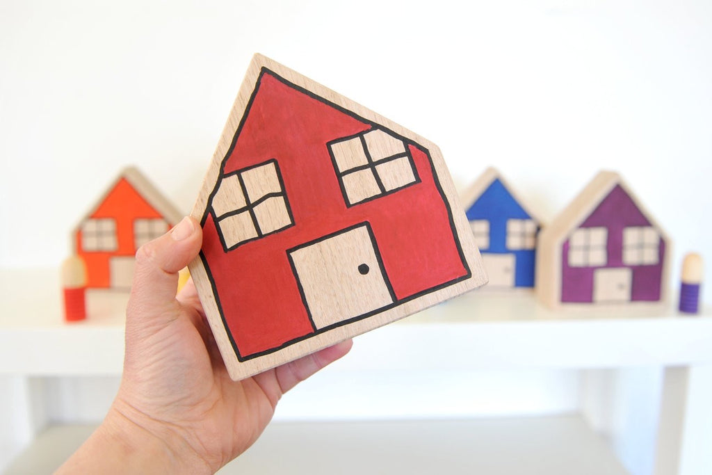 Rainbow houses (set of 7)
