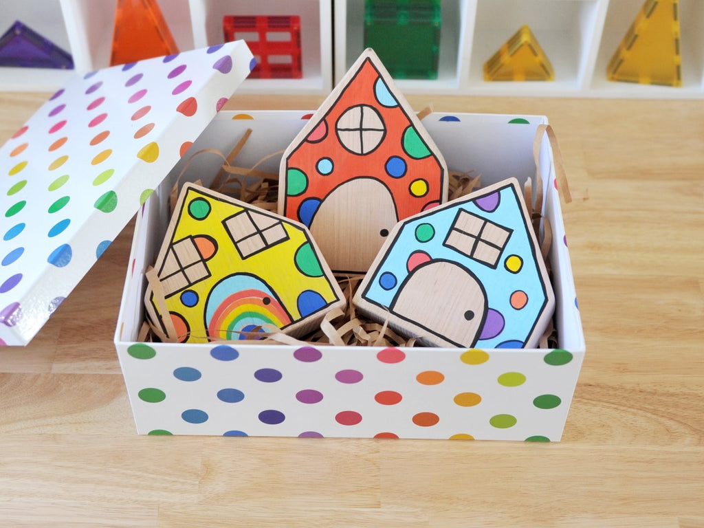 PRE-ORDER - Confetti houses (set of 3)