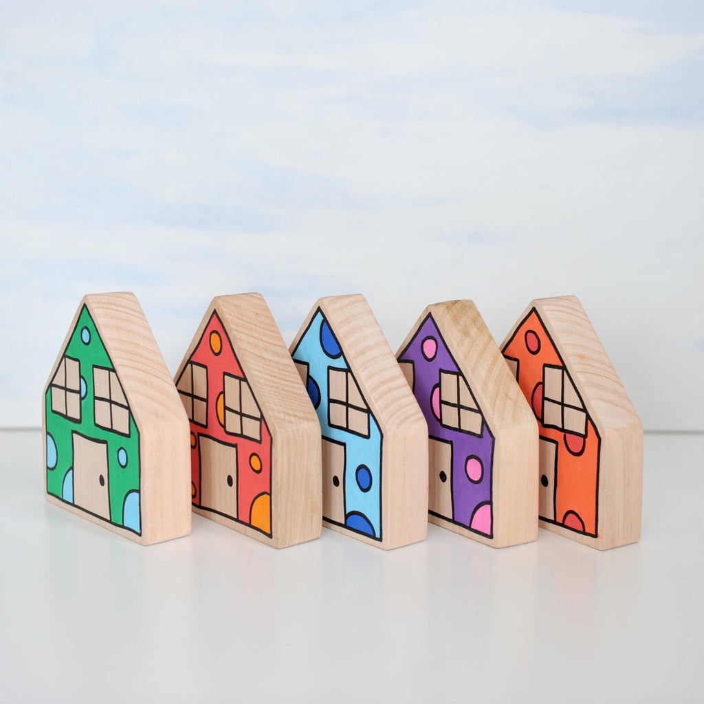 PRE-ORDER - Confetti houses (set of 5)