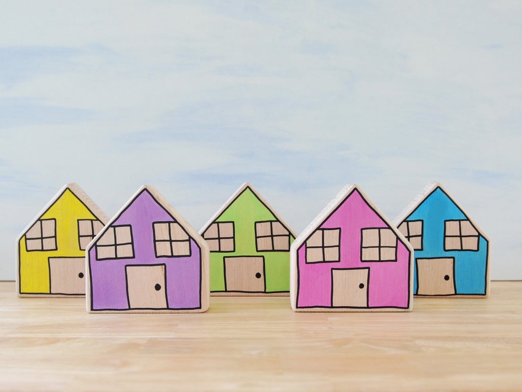 PRE-ORDER - Pastel houses (set of 5)