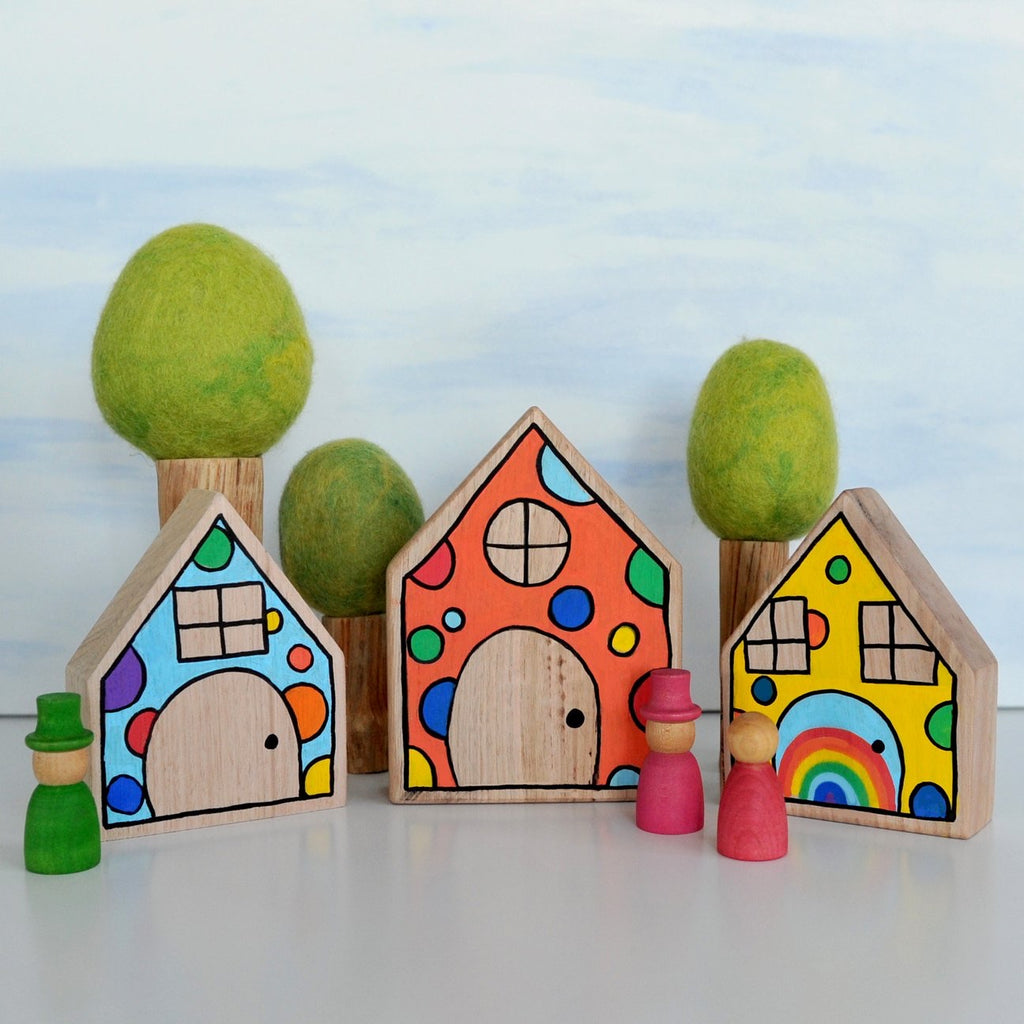 Confetti houses (set of 3)