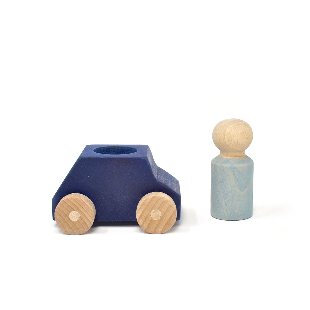 Lubulona Blue car with grey figure