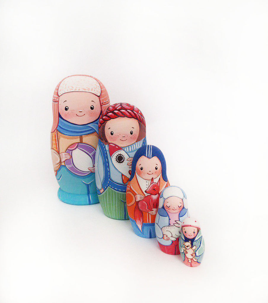 Boys - 5 Set Russian Dolls