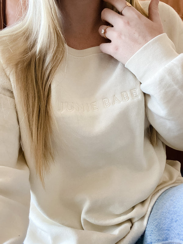 The Cozy Sweatshirt in Bone