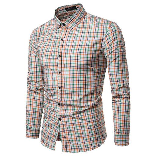 Polyester slim full sleeve casual shirt with lapel collar for men`s