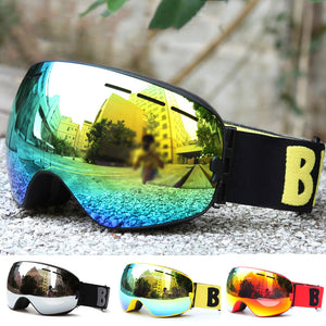 Skiing Anti-Fog UV Protection Unisex Goggles Eyewear Outdoor Sports Glasses