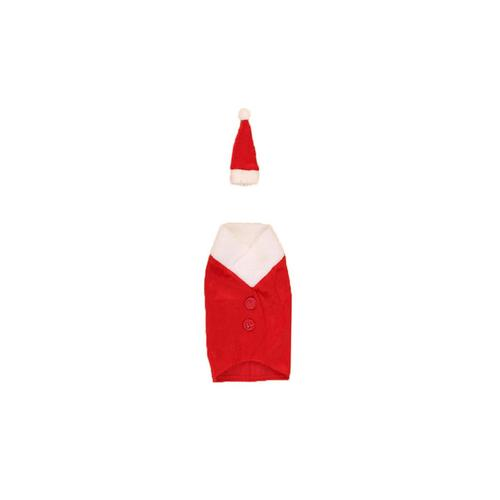 1pc Christmas Red Wine Bottle Cover Bags Xmas