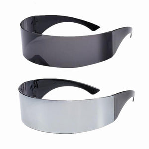 Cool Futuristic Wrap Around Monob Costume Sunglasses Mask Novelty Glasses Birthday Halloween Party Decoration Party Supplies