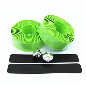 Road Bike Bicycle Handlebar Tape Camouflagebelt Cycling Handle Belt Cork Wrap with Bar Plugs non slip absorb sweat HC0105