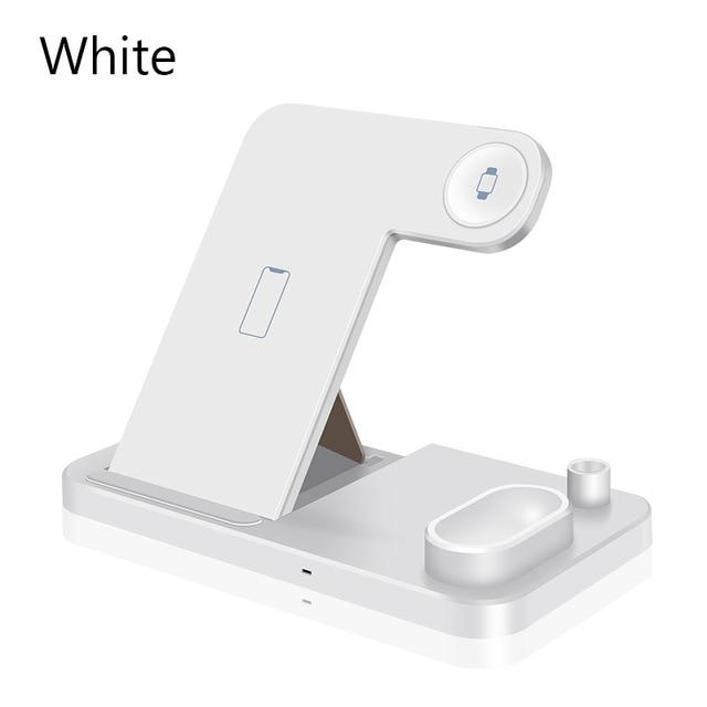 4 in 1 Wireless Charger 10W Fast Charging for iPhone 11/11pro/X/XS/XR/Xs Max/8/8 Plus for Apple Watch 5 4 3 2 Airpods Pencil Pad