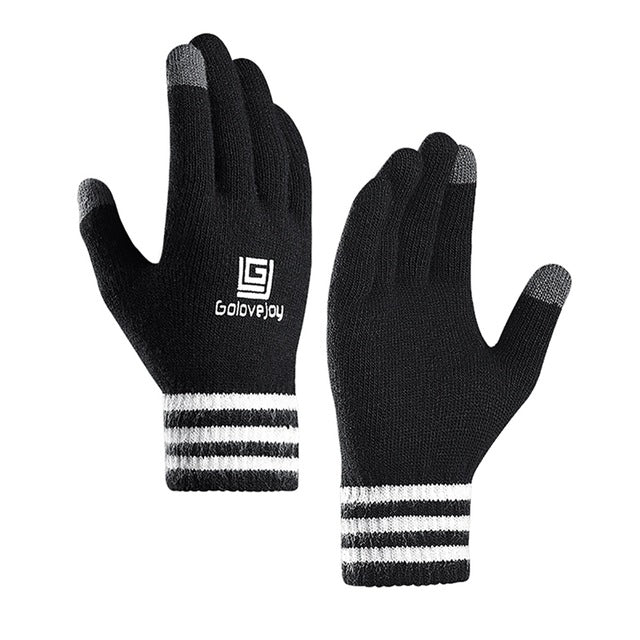Unisex Winter Cycling Gloves Full Finger Touchscreen Thermal Knit Riding Handwear Professional Outdoor Gloves Cycling Equipment - Bisonfashion