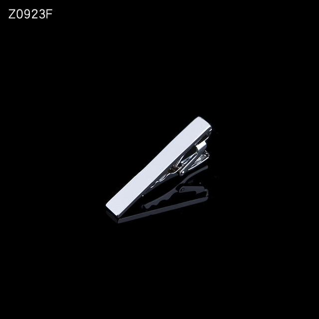Men's tie clip silver fashion 10 simple short male collar 4cm - Bisonfashion