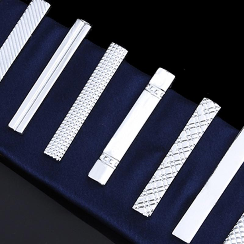 Men's tie clip silver fashion 10 simple short male collar 4cm