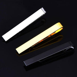 Classic Men Tie Pin Clips of Casual Style Tie Clip Fashion Jewelry Exquisite Wedding Tie Bar Silver And Golden Color