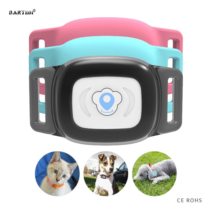 Smart Waterproof IP67 MiNi Pet GPS AGPS LBS Tracking Tracker Collar For Dog Cat AGPS LBS SMS Positioning Geo-Fence Track Device