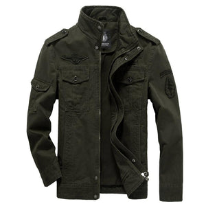 Cotton Military Jacket Men 2019 Autumn Soldier  MA-1 Style Army Jackets Male Brand Slothing Mens Bomber Jackets Plus Size M-6XL - Bisonfashion